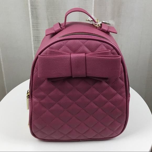 SALE! Betsey Johnson Rose Bow Mini Backpack-NWT 109ae6e437f9b